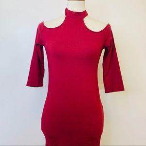 Heart & Hips Women's Off Shoulder Body Con Dress L
